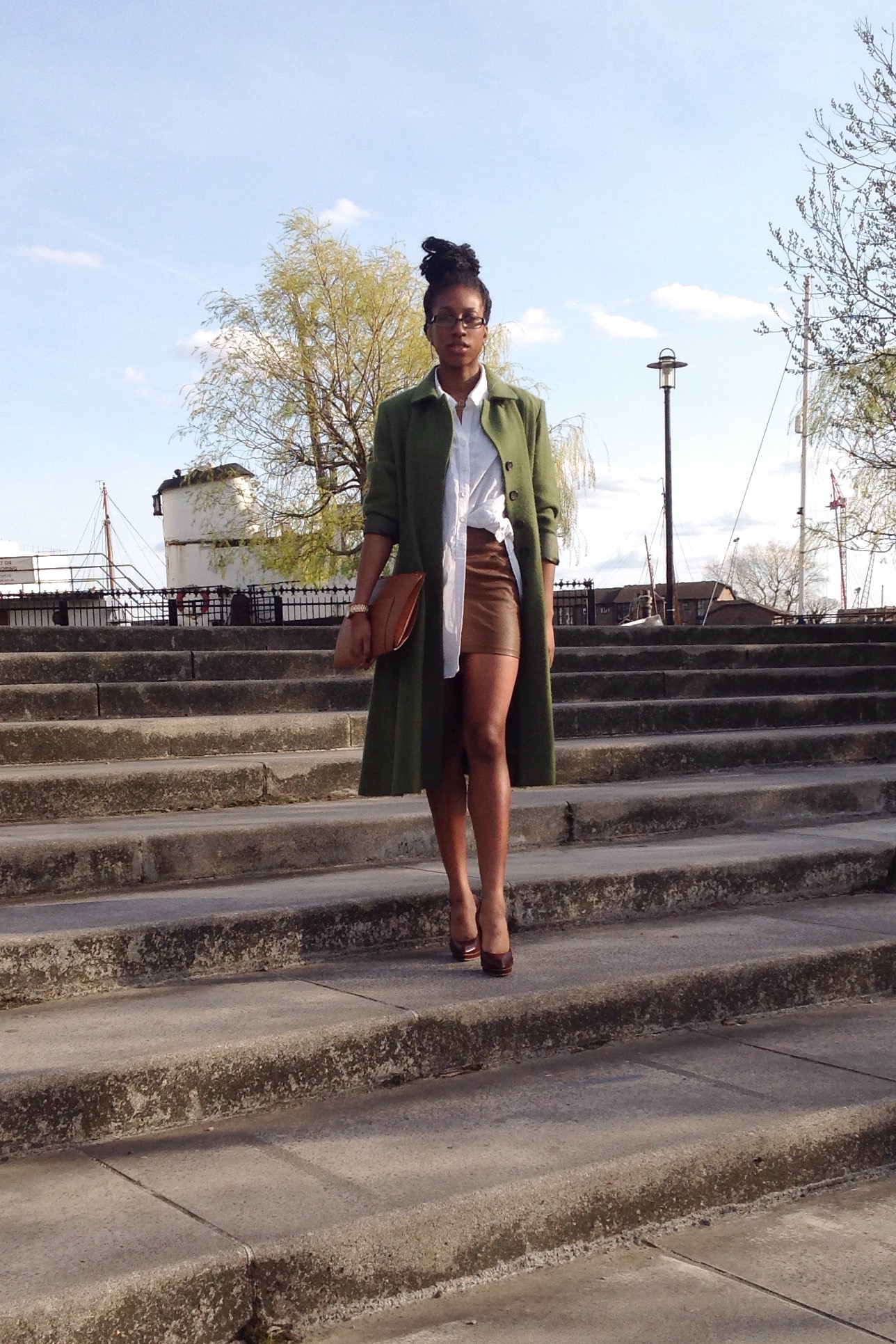 Green Coat Fashion